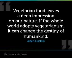 Einstein quotes vegetarina